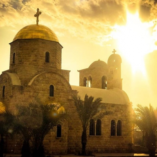 This is a picture of a church at the #pabtismsite in #jordan where #Jesus was baptized